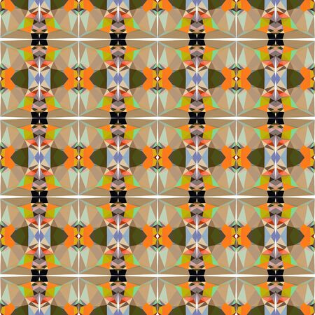 seamless repeating pattern light with peru, rosy brown and very dark green colors.