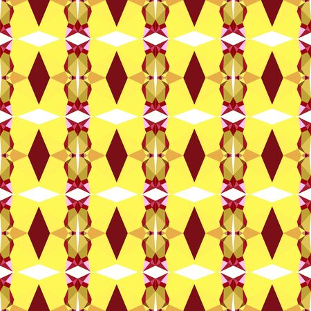 seamless repeating pattern simple with pastel orange, firebrick and khaki colors. Stock Photo