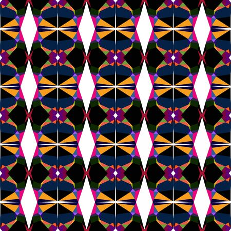 seamless pattern simple with very dark blue, coral and medium violet red colors. 写真素材