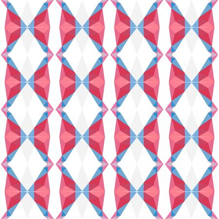 seamless pattern texture with indian red, corn flower blue and pale violet red colors.