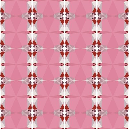 decorative seamless pattern with pale violet red, firebrick and misty rose colors. Imagens