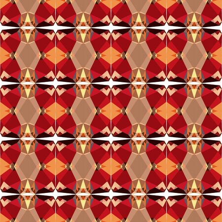 simple seamless texture pattern with sienna, firebrick and burly wood colors. Stock Photo