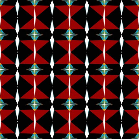 seamless geometric pattern with maroon, black and blue chill colors. Imagens
