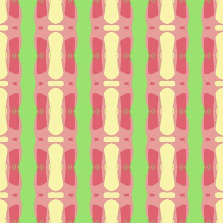 abstract seamless pattern with dark salmon, indian red and pastel green colors. endless texture for wallpaper, creative or fashion design. Imagens