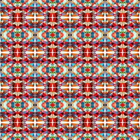 seamless wallpaper pattern with dark slate gray, powder blue and orange red colors. 写真素材