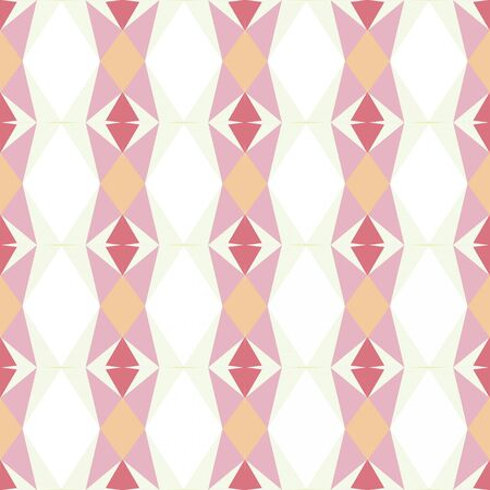 seamless repeating pattern abstract with baby pink, old lace and pale violet red colors. Imagens