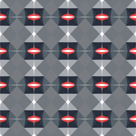 seamless geometric pattern with gray gray, very dark blue and pastel red colors.