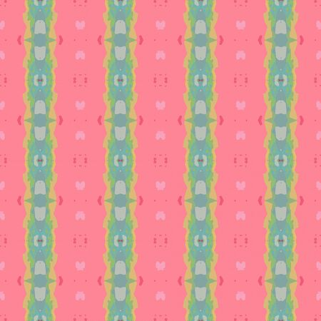 abstract seamless pattern with light coral, dark sea green and tan colors. endless texture for wallpaper, creative or fashion design. Stock Photo