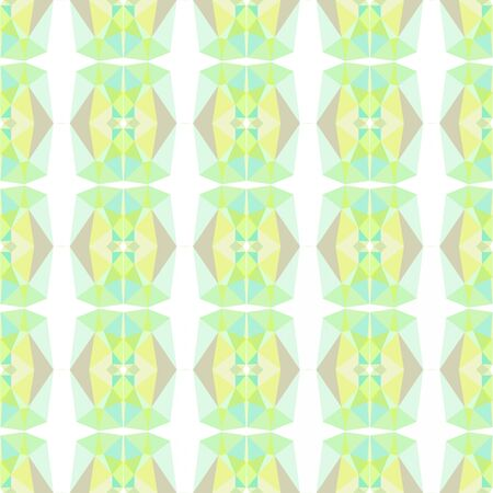 seamless repeatable geometric pattern with tea green, honeydew and pale golden rod colors. Stock Photo