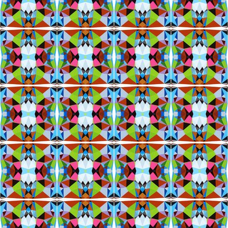 seamless repeatable pattern simple with firebrick, dark slate gray and yellow green colors.