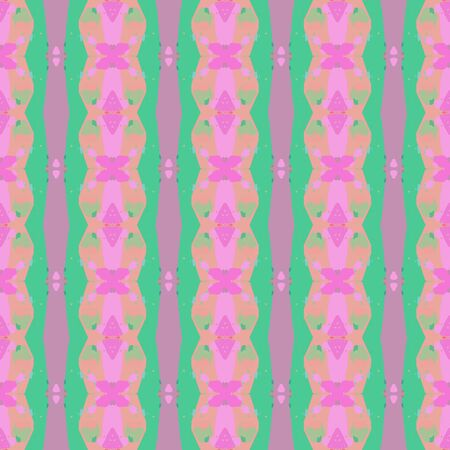 abstract seamless pattern with pastel magenta, medium aqua marine and dark sea green colors. endless texture for wallpaper, creative or fashion design. Stock Photo