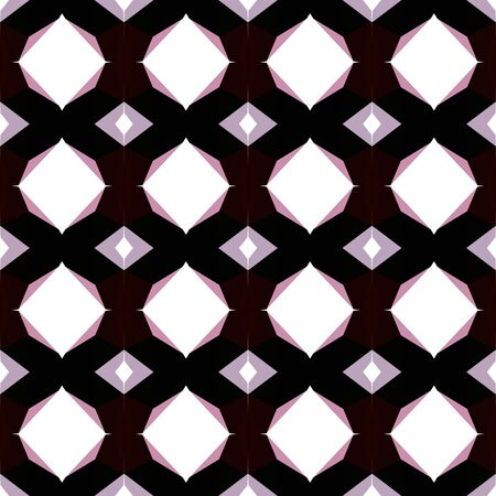 seamless geometric pattern with pastel purple, black and old mauve colors. 写真素材