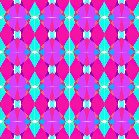 seamless repeatable pattern abstract with bright turquoise, deep pink and medium orchid colors. Stock Photo
