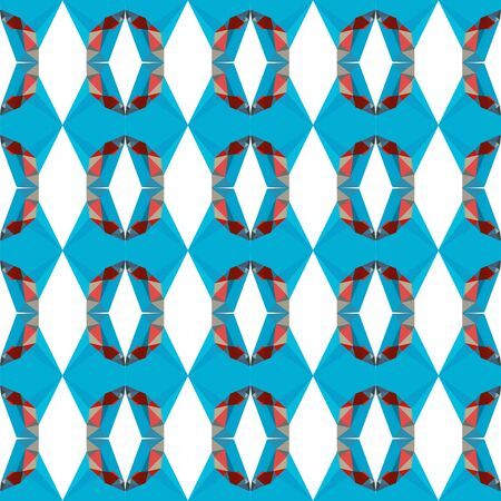 seamless repeating pattern abstract with dark turquoise, rosy brown and dark red colors. 版權商用圖片