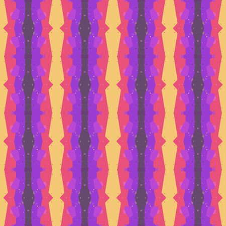 abstract seamless pattern with dark orchid, pale violet red and burly wood colors. endless texture for wallpaper, creative or fashion design. Stock Photo