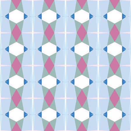 seamless pattern design with lavender blue, ash gray and pale violet red colors. Imagens