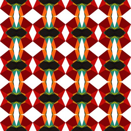 decorative seamless pattern with very dark blue, maroon and orange red colors. Imagens