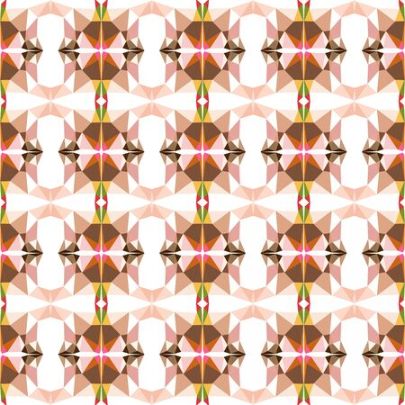 simple seamless texture pattern with baby pink, brown and dark salmon colors. Imagens