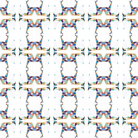 seamless repeatable pattern simple with white smoke, dark slate blue and sandy brown colors. Stock Photo