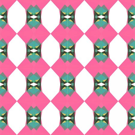 seamless repeatable pattern texture with hot pink, blue chill and pale golden rod colors. Imagens