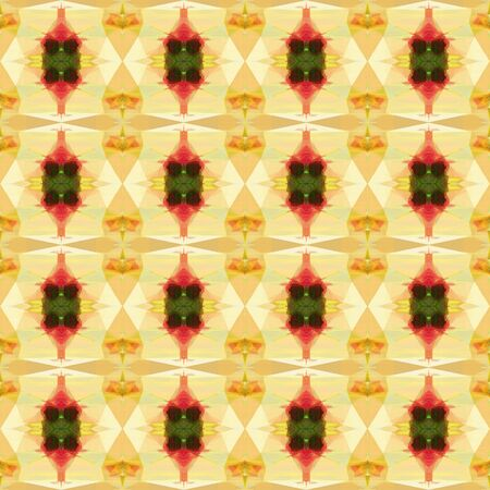abstract seamless pattern with khaki, saddle brown and golden rod colors. repeating background illustration can be used for wallpaper, cards or textile fashion design. Banco de Imagens