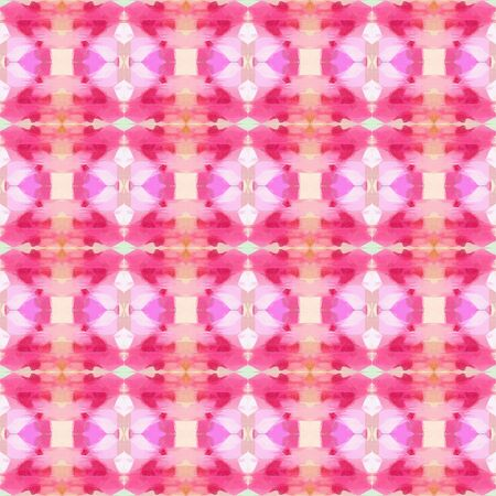 abstract seamless pattern with pastel magenta, moderate pink and misty rose colors. repeating background illustration can be used for wallpaper, creative or textile fashion design.
