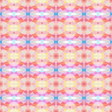 seamless geometric pattern with baby pink, pastel pink and light coral colors. repeating background illustration can be used for wallpaper, creative or textile fashion design. 写真素材