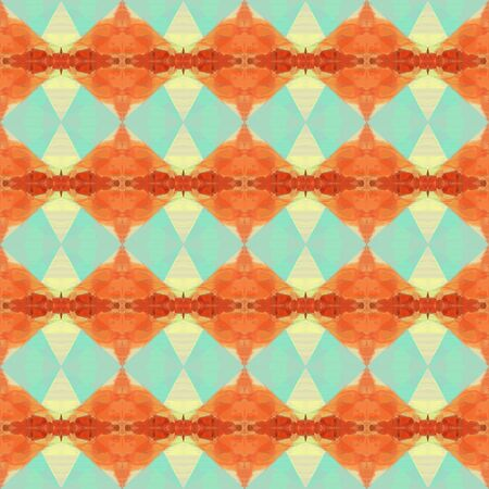 colorful seamless pattern with coral, coffee and pastel blue colors. repeating background illustration can be used for wallpaper, creative backgrounds or textile fashion design.