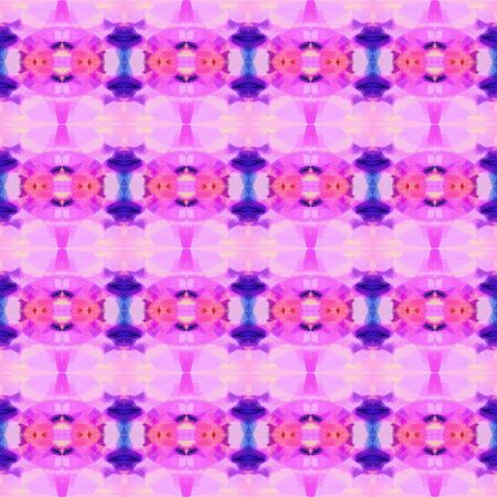 seamless geometric pattern with plum, dark slate blue and orchid colors. repeating background illustration can be used for wallpaper, cards or textile fashion design.