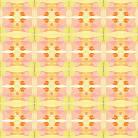 seamless pattern old retro style with skin, coral and pale golden rod colors. repeating background illustration can be used for fashion textile design, web page background or surface textures. 写真素材
