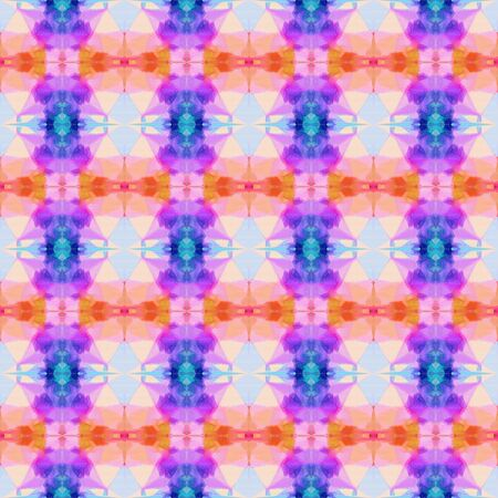 colorful seamless pattern with thistle, royal blue and medium orchid colors. repeating background illustration can be used for wallpaper, creative or textile fashion design. 写真素材