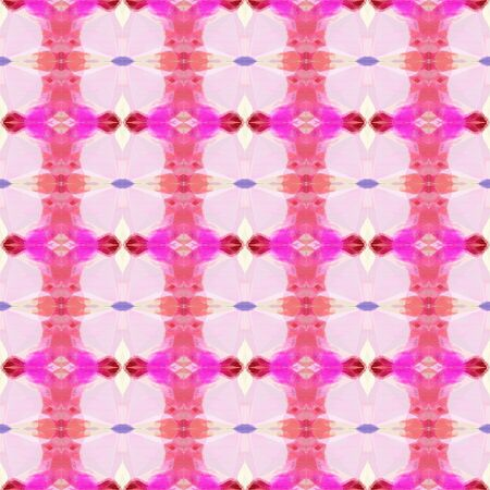 seamless retro pattern with pastel pink, neon fuchsia and pale violet red colors. repeating background illustration can be used for wallpaper, creative backgrounds or textile fashion design. Stock Photo