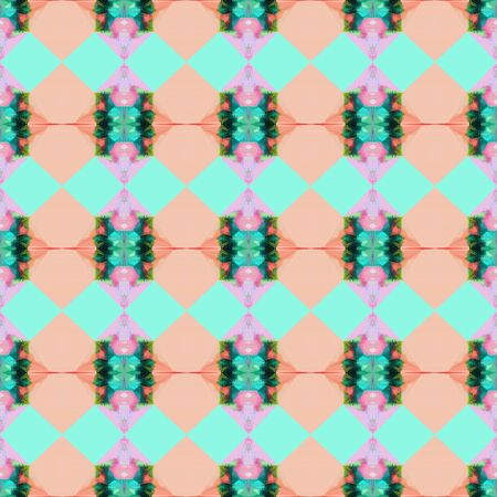 bright seamless pattern with pastel gray, sea green and baby pink colors. repeating background illustration can be used for fashion textile design, web page background or surface textures.