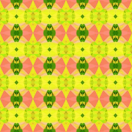 seamless vintage pattern with vivid orange, gold and dark green colors. repeating background illustration can be used for wallpaper, creative or textile fashion design.
