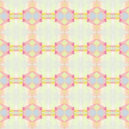 seamless geometric pattern with antique white, khaki and hot pink colors. repeating background illustration can be used for wallpaper, cards or textile fashion design.
