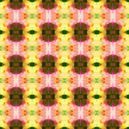 bright seamless pattern with burly wood, dark olive green and sienna colors. repeating background illustration can be used for wallpaper, wrapping paper or textile fashion design. 写真素材