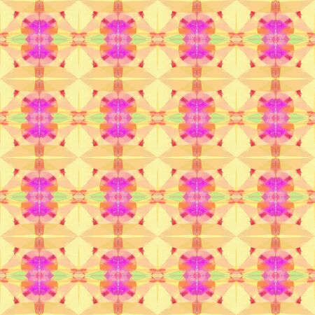 bright seamless pattern with khaki, neon fuchsia and light coral colors. repeating background illustration can be used for wallpaper, wrapping paper or textile fashion design. 写真素材