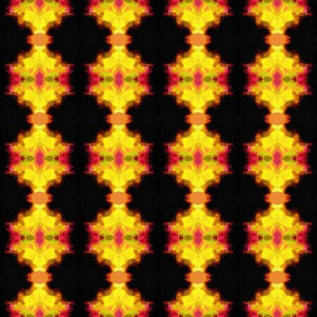 seamless pattern old retro style with golden rod, firebrick and black colors. repeating background illustration can be used for wallpaper, creative backgrounds or textile fashion design. Banco de Imagens