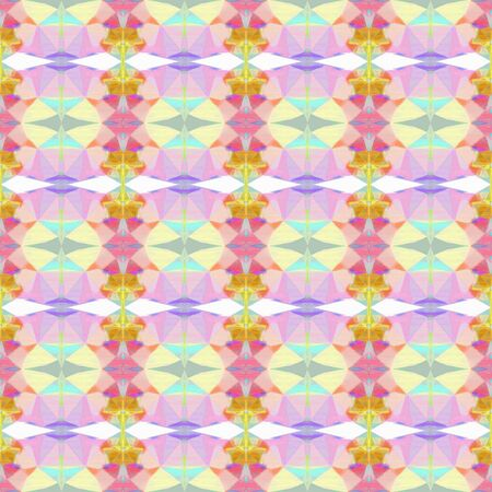 seamless retro pattern with light gray, baby pink and golden rod colors. repeating background illustration can be used for fashion textile design, web page background or surface textures. Stock Photo