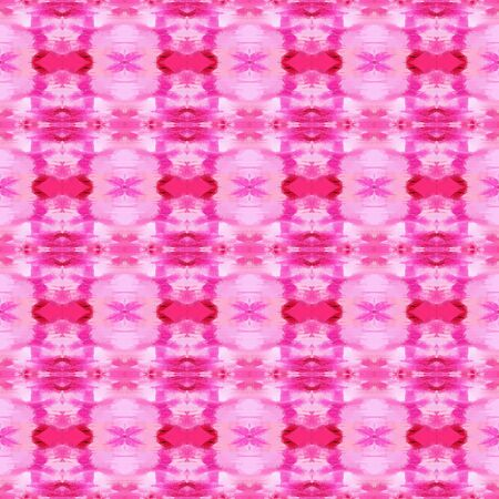 seamless geometric pattern with plum, deep pink and neon fuchsia colors. repeating background illustration can be used for wallpaper, cards or textile fashion design. Stock Photo