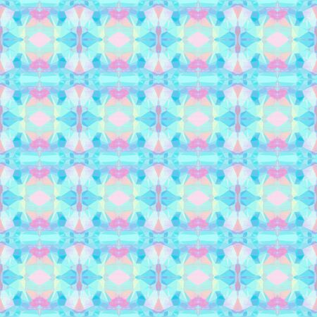 seamless pattern old retro style with pale turquoise, sky blue and pastel pink colors. repeating background illustration can be used for wallpaper, wrapping paper or textile fashion design.