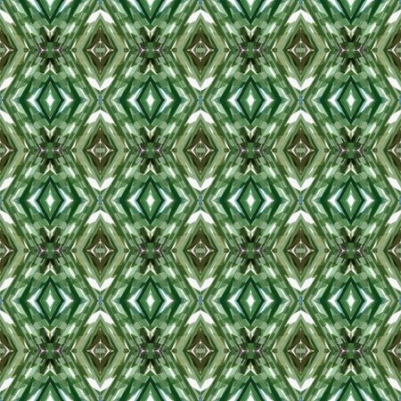 repeatable pattern with dark olive green, linen and dark sea green colors. seamless graphic can be used for packaging paper, fabric, wallpaper and textures. Фото со стока
