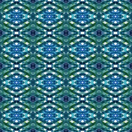 repeatable pattern with teal blue, lavender and teal green colors. seamless graphic can be used for printable design, background wallpaper and texture.