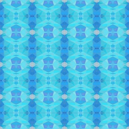 abstract seamless pattern with medium turquoise, sky blue and pastel blue colors. repeating background illustration can be used for wallpaper, wrapping paper or textile fashion design. Stock Photo