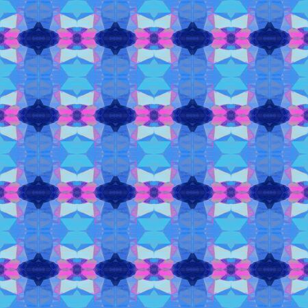 bright seamless pattern with corn flower blue, pastel violet and midnight blue colors. repeating background illustration can be used for wallpaper, creative or textile fashion design. Stock Photo