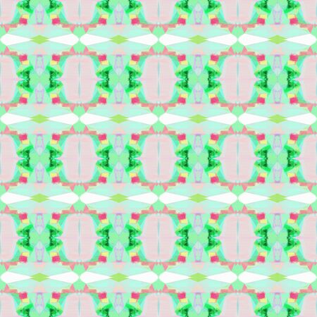 seamless geometric pattern with light gray, medium sea green and medium aqua marine colors. repeating background illustration can be used for wallpaper, cards or textile fashion design. Stock Photo