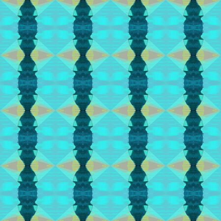 colorful seamless pattern with medium turquoise, teal green and dark sea green colors. repeating background illustration can be used for wallpaper, cards or textile fashion design. Stock Photo
