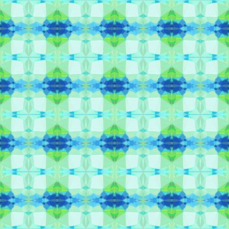 seamless vintage pattern with powder blue, steel blue and pastel green colors. repeating background illustration can be used for wallpaper, wrapping paper or textile fashion design.