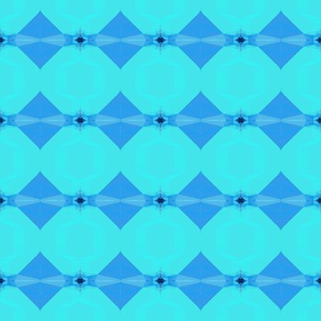 seamless retro pattern with turquoise, dodger blue and midnight blue colors. repeating background illustration can be used for wallpaper, creative backgrounds or textile fashion design. Stock Photo