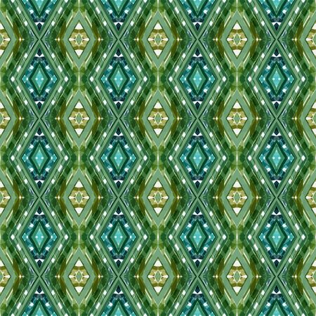 repeatable pattern with sea green, dark olive green and light gray colors. seamless graphic can be used for wallpaper, fabric, pattern fills and surface textures. Stock Photo